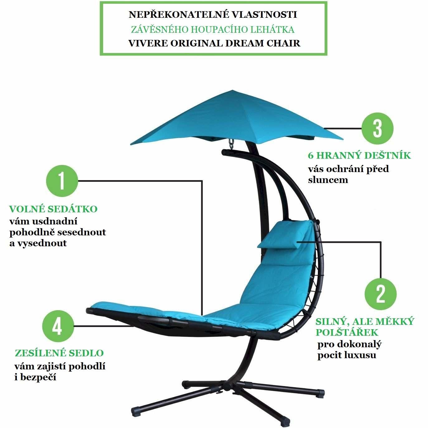 4 vlastnosti závěsného houpacího lehátka Vivere Original Dream Chair