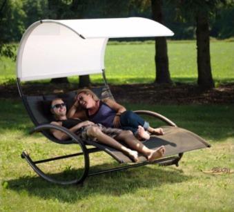 Zahradní houpací postel Vivere Sienna